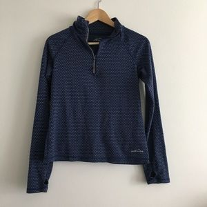 Eddie Bauer Pull Over Jacket Top Thumb hole
